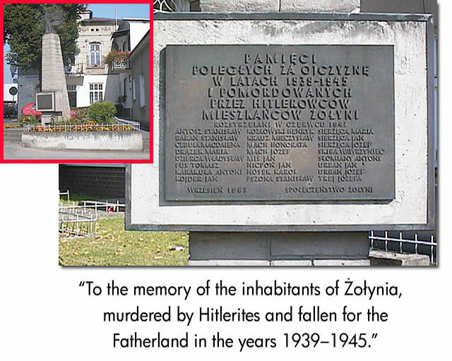 Zolynia war plaque